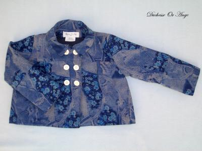 Veste fillette en denim - 3 ans
