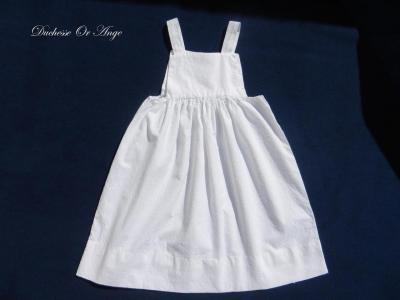 Robe fillette en broderie anglaise blanche - 2 ans