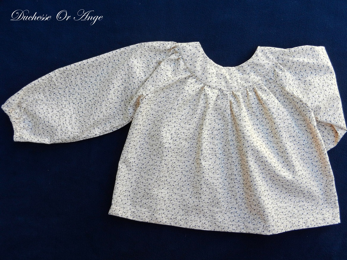 Doa 101 blouse enfant creme cream child blouse c