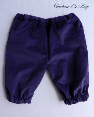 Dark purple velvet Capri pants - 3 years old