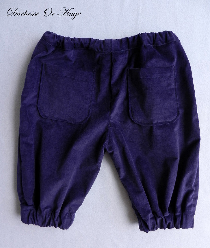 Doa 105 pantacourt enfant violet purple child capri pants b