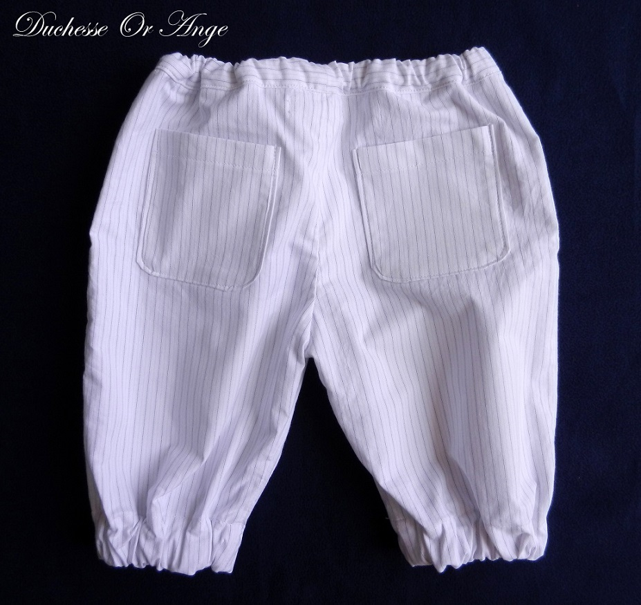 Doa 106 pantacourt enfant blanc white child capri pants c