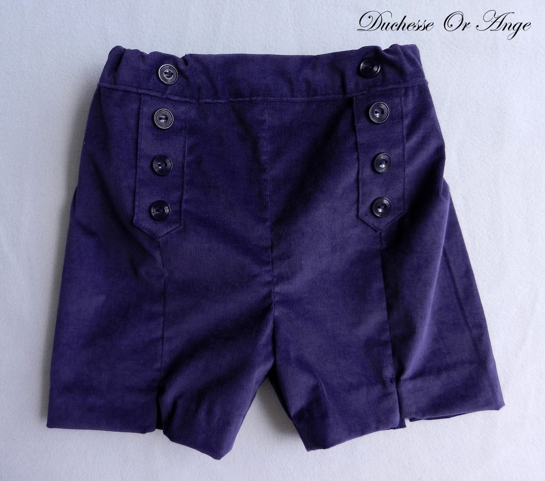 Doa 107 bermuda enfant violet purple child bermudas a