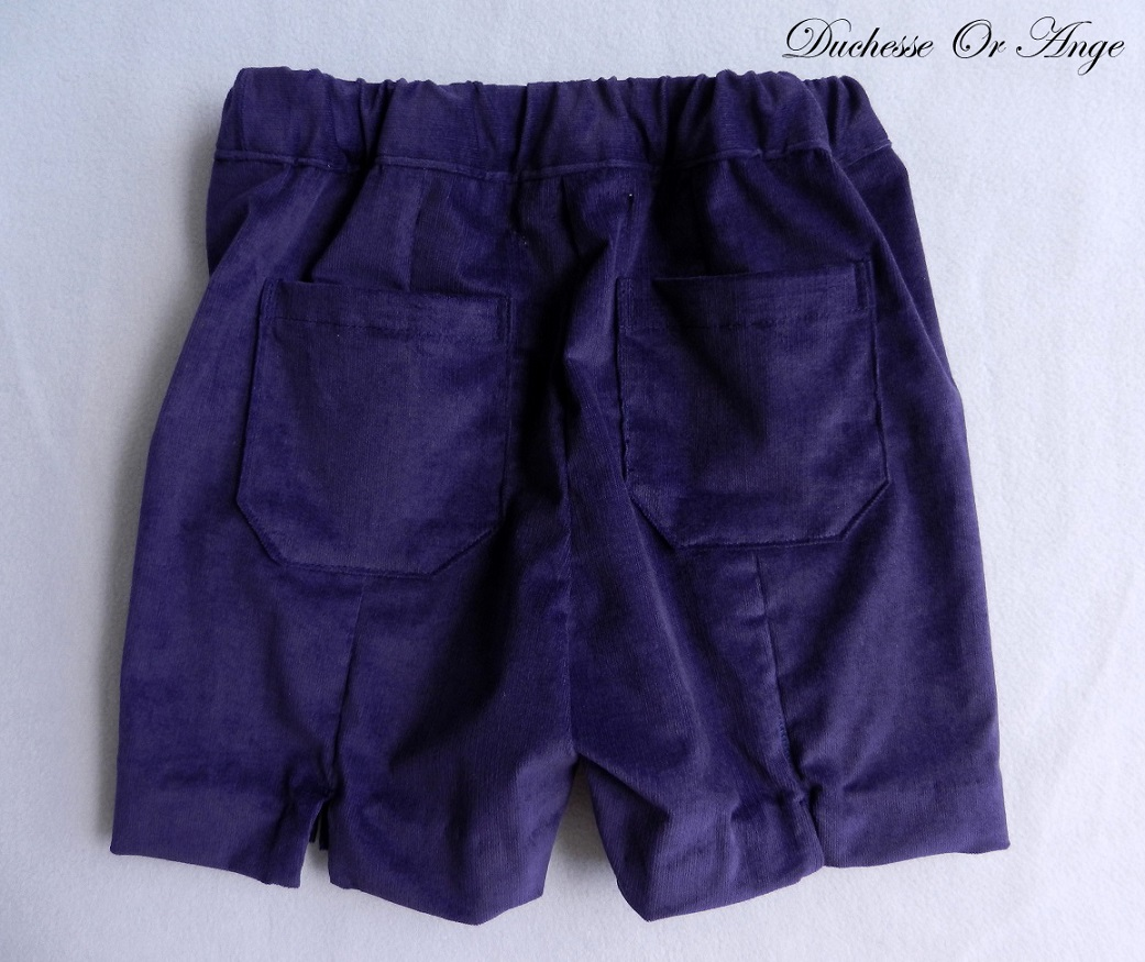 Doa 107 bermuda enfant violet purple child bermudas c