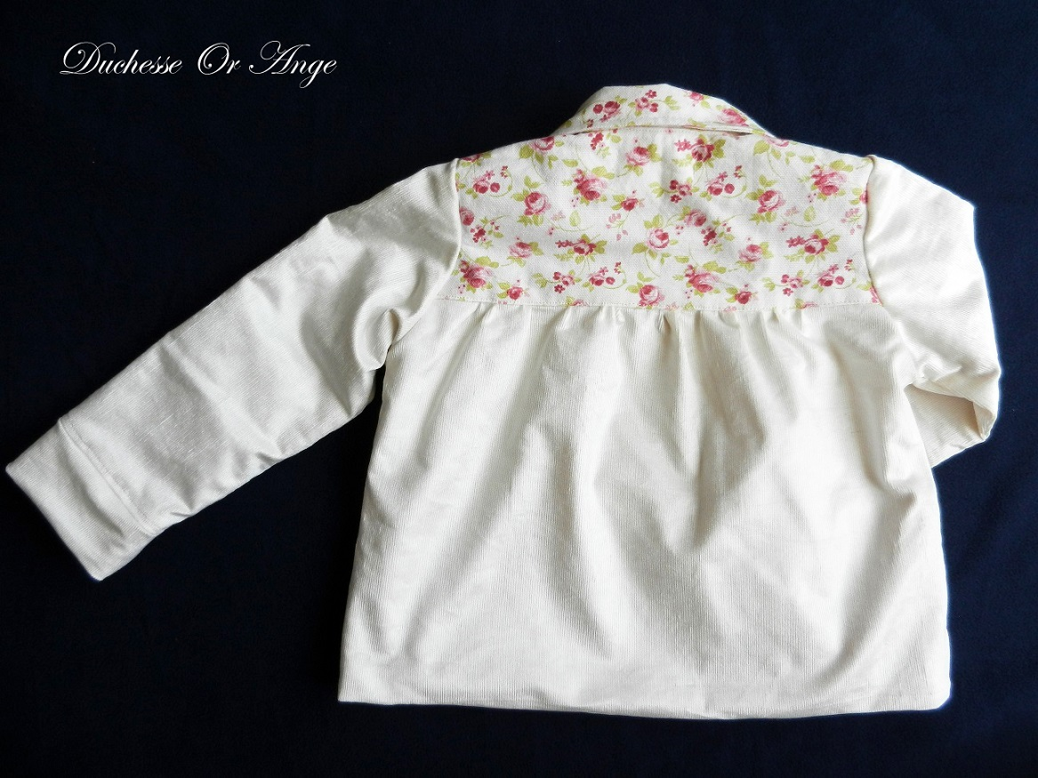 Doa 109 veste enfant creme cream child jacket c