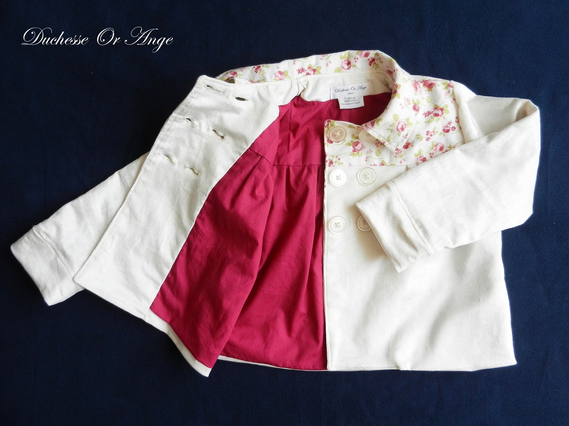 Doa 109 veste enfant creme cream child jacket d