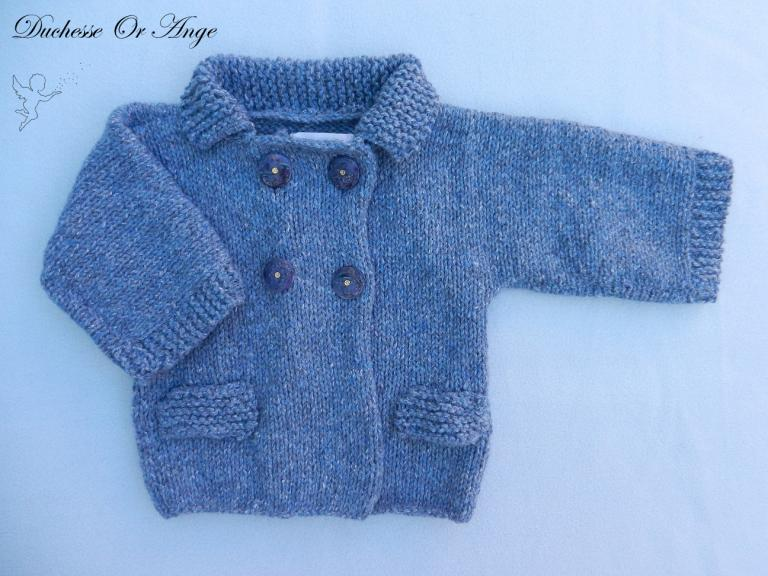 Blue woolen jacket - 6 months old