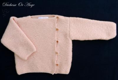 Salmon pink knitted top - 12 months old