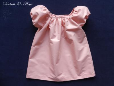 Shiny pink balloon sleeves dress - 3 years old