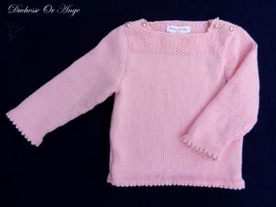 Pink cotton jumper fastened at the shoulders - 2 years old