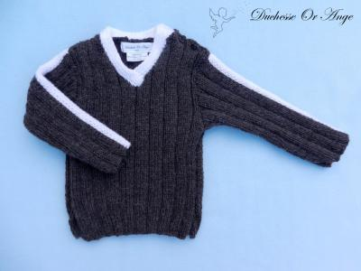 Brown alpaca and wool jumper - 18 months old
