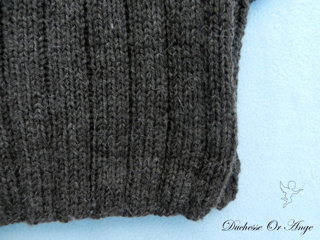 Doa 122 c pull laine alpaga laine marron bebe brown baby jumper alpaca wool