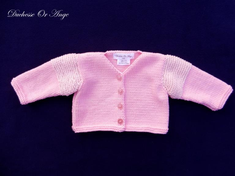 Pink knit cardigan - 1 month old