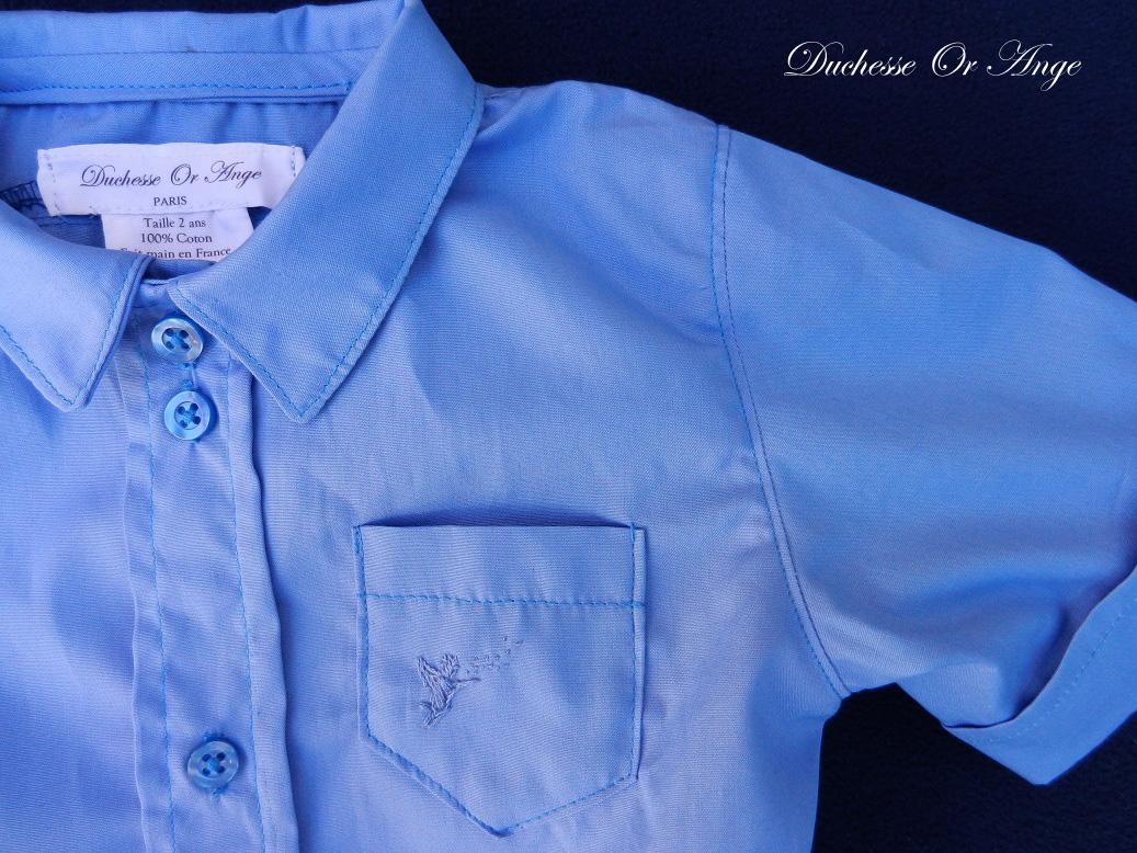 Doa 125 b chemise bebe bleue blue baby shirt