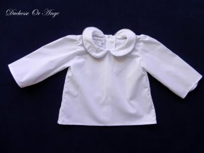 Chemise blanche avec col claudine - 12 mois