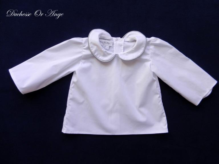 White shirt with peter pan collar - 12 months old
