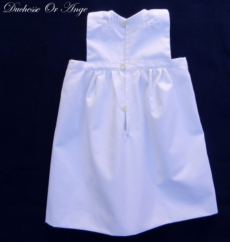 Doa 129 c robe bebe blanche ceremonie bapteme white baby dress christening