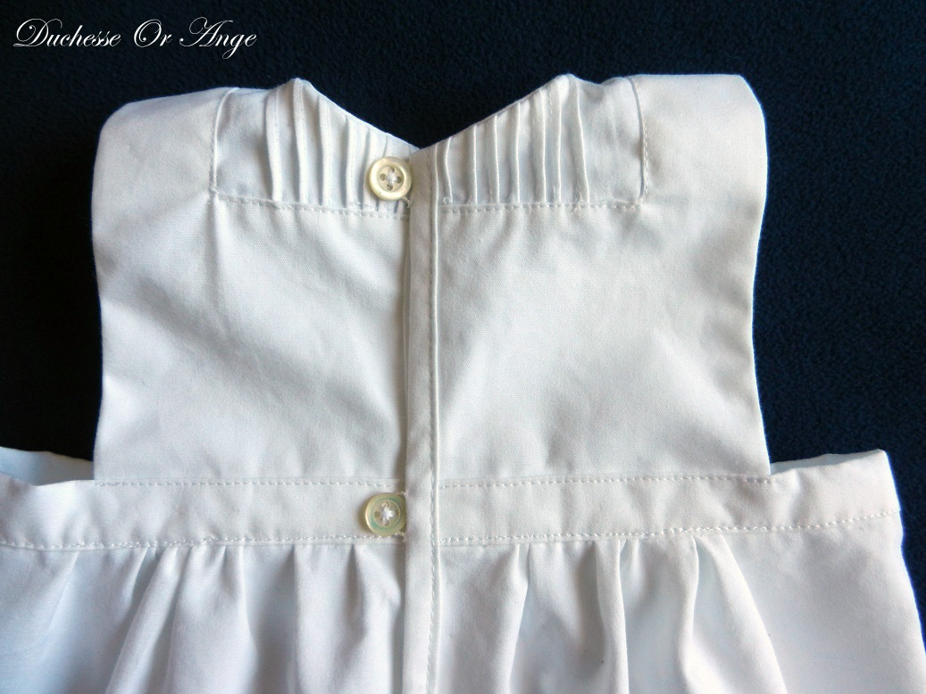 Doa 129 d robe bebe blanche ceremonie bapteme white baby dress christening