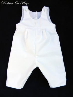 White cotton overalls