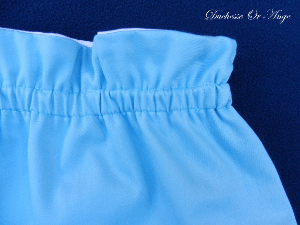 Doa 137 e ensemble bebe chemise pantalon bleu ciel sky blue baby set shirt trousers
