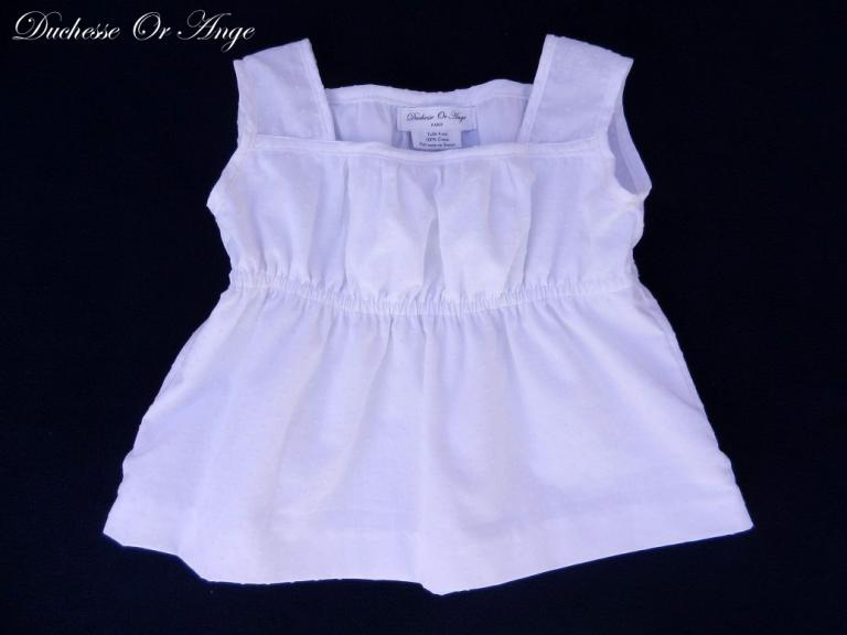 White plumetis cotton top - 4 years old