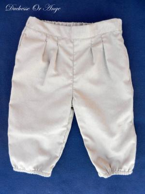 Pantalon style golf en coton marron  - 2 ans