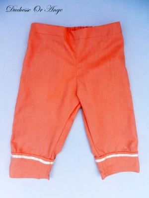 Apricot linen capri pants - 4 years old