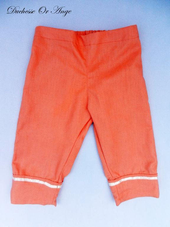 Apricot linen capri pants - 4 years old