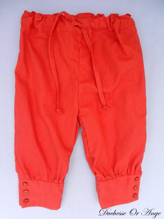 Pantalon en lin rouge orangé - 4 ans