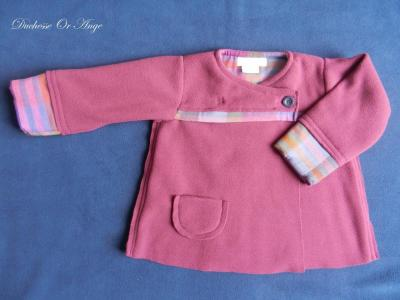 Burgundy fleece coat - 2 years old