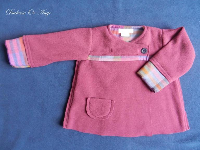 Burgundy fleece coat - 2 years old