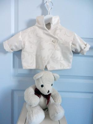 Cream damask coat - 3 months old