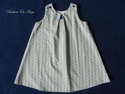 Blue and yellow cotton dress - 3 years old