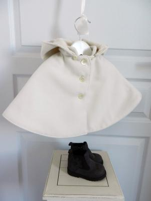 Off white hooded cape - 12 months old