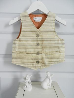 Beige and silver stripes waistcoat - 4 years old