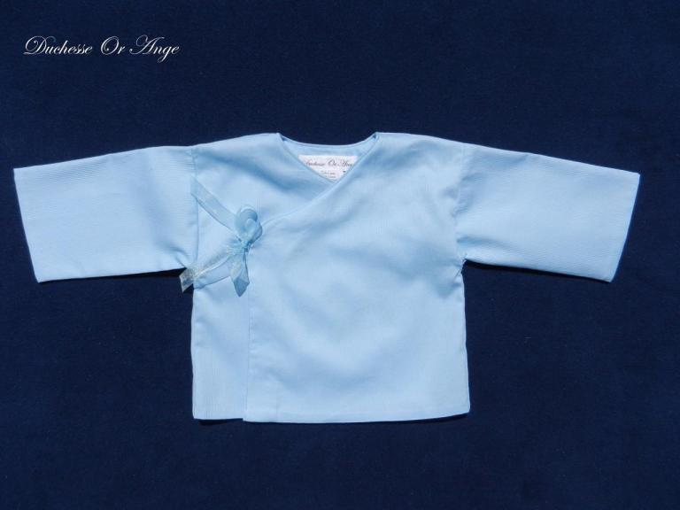 Sky blue baby wrap over - 6 months old