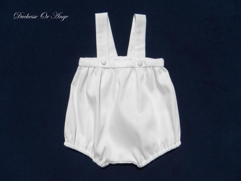 Off white cotton romper suit - 3 months