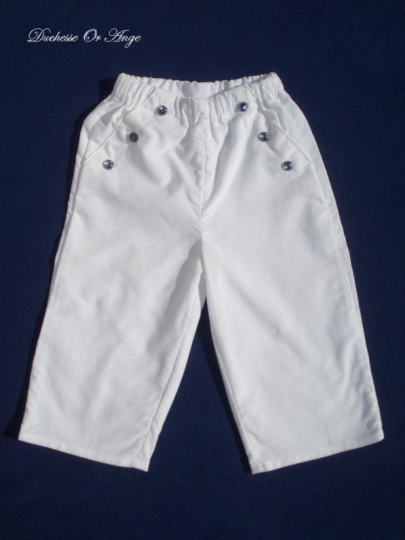 White velvet trousers - 2 years old