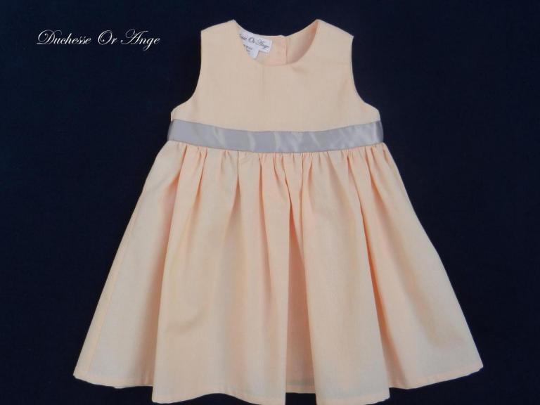 Cotton peach baby dress 12-18 months