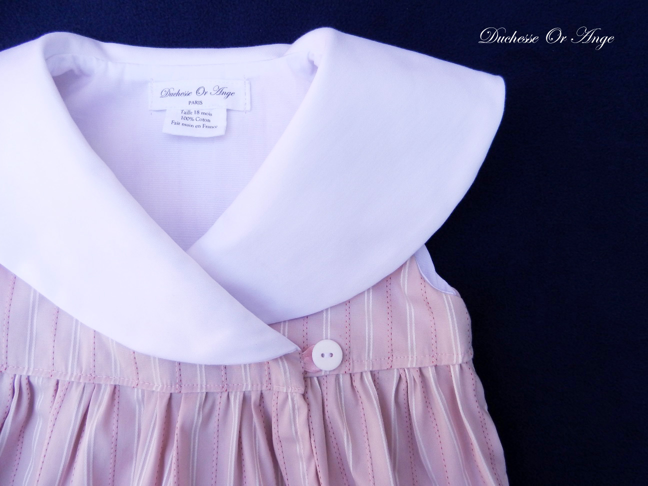 Doa 87 b robe bebe croisee rose col chale shawl collar pink baby wrapover dress