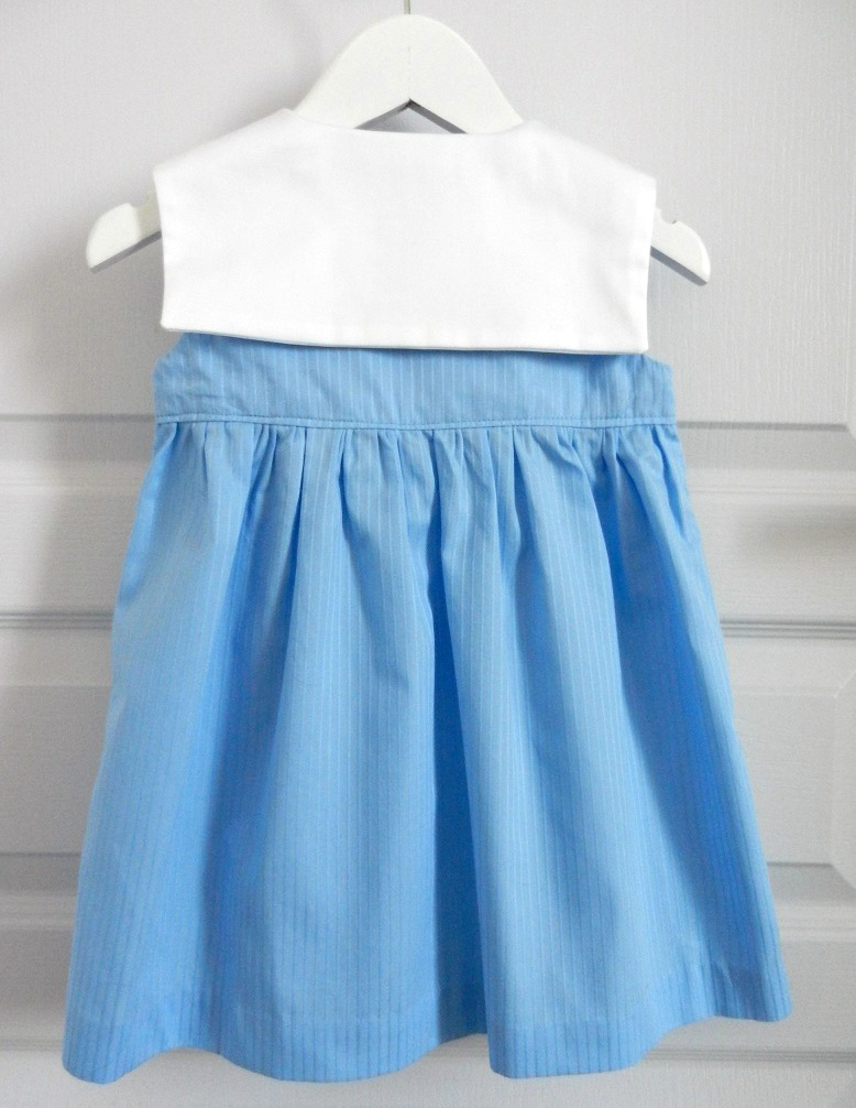 Doa 88 g robe bebe croisee bleu col marin sailor collar blue baby wrapover dress