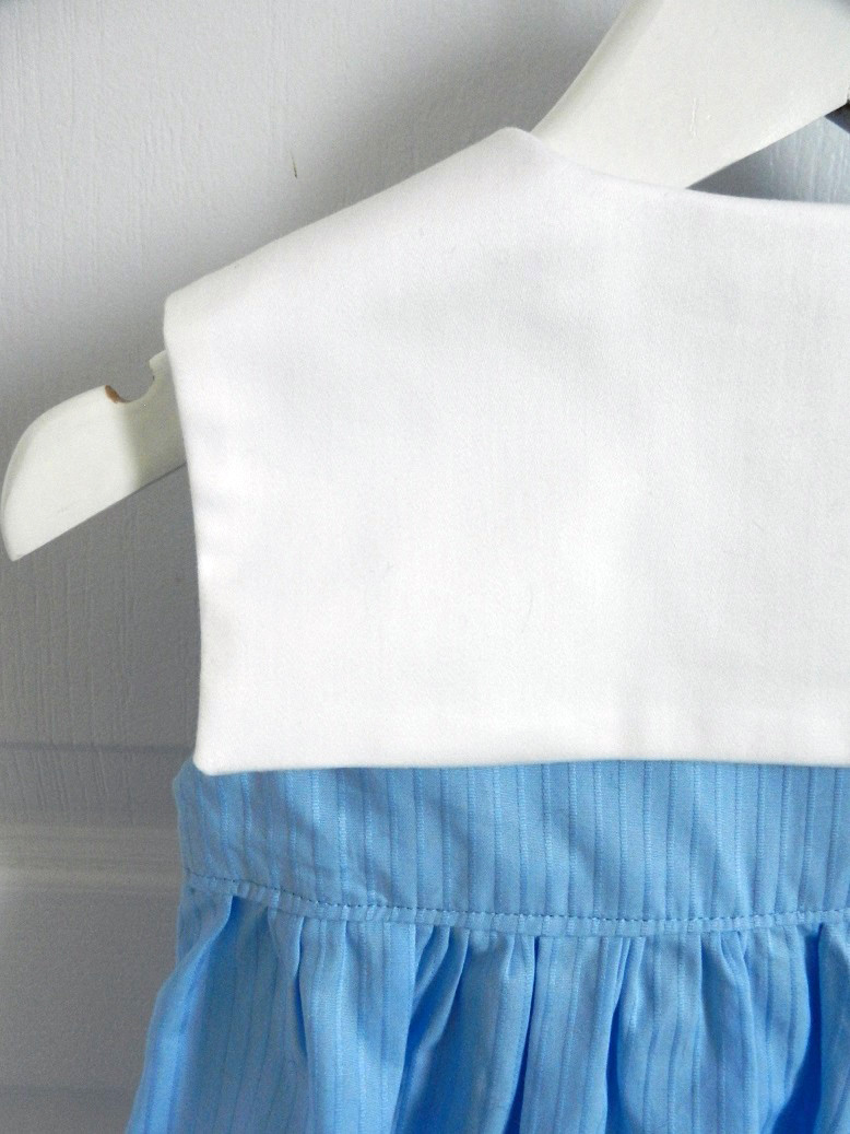 Doa 88 h robe bebe croisee bleu col marin sailor collar blue baby wrapover dress