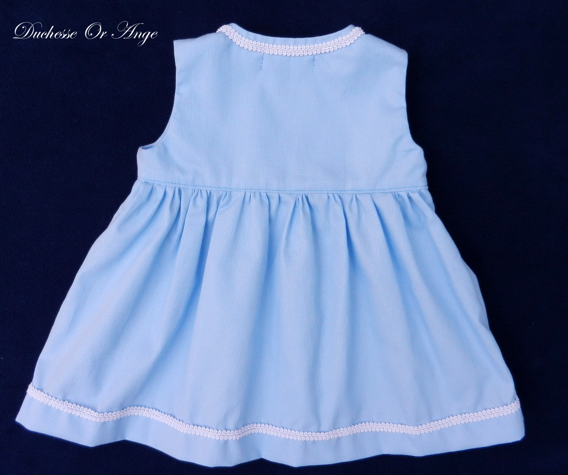 Doa 89 a robe bebe croisee bleu ciel sky blue baby wrapover dress