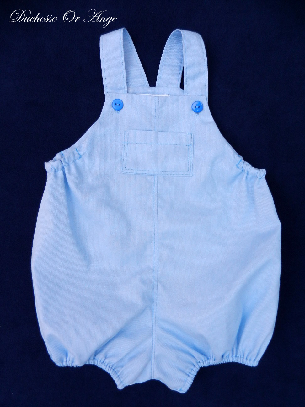 Doa 93 a barboteuse bebe bleue blue baby rompers