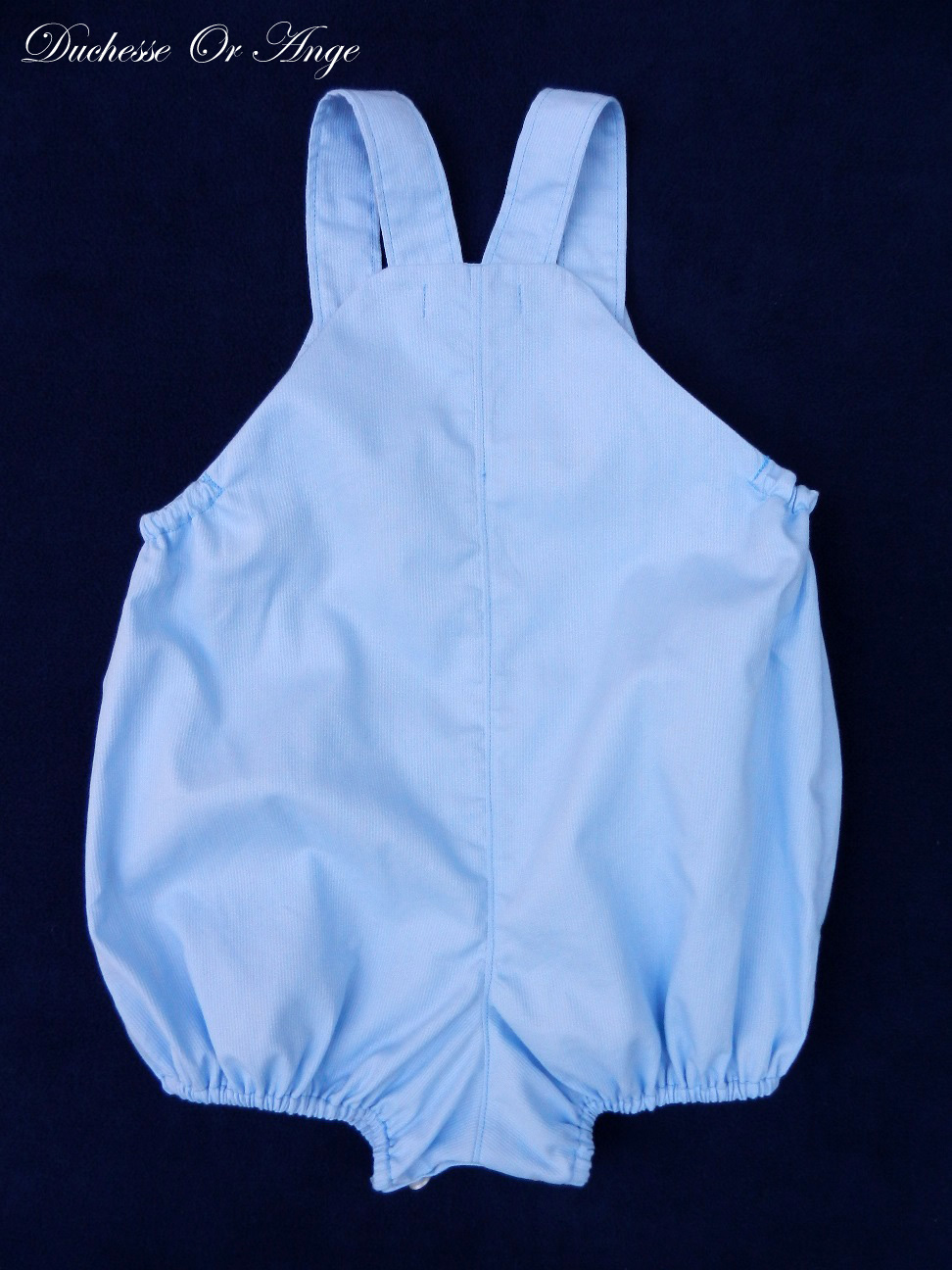 Doa 93 c barboteuse bebe bleue blue baby rompers