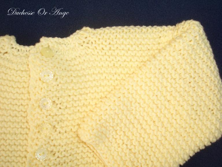 Yellow knitted jacket - 1 month old