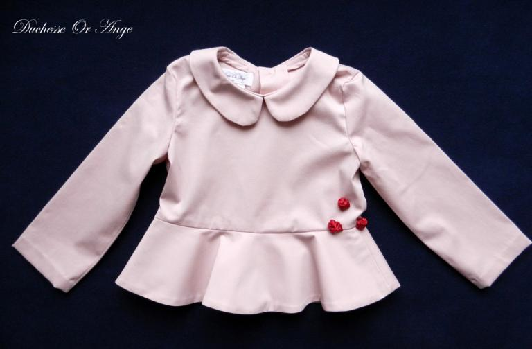 Pink peplum blouse - 4 years old