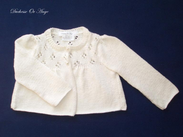 Cream knitted cardigan - 2 years old