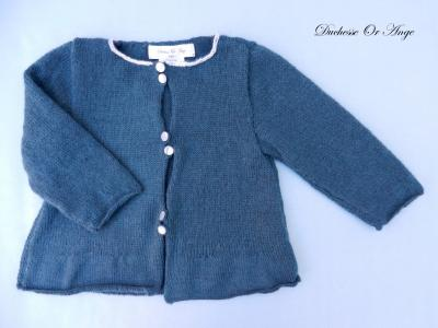 Dark green lambwool cardigan - 18 months/2 years old