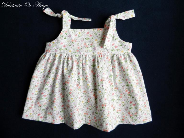 Floral cotton top with straps- 4 years old